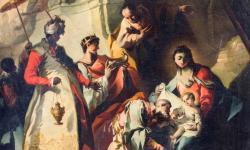 Franz Anton Maulbertsch: Háromkirályok imádása oltár, 1748, Kolozsvár, Szent Mihály-templom – Fotó: Ilyés Zalán/romkat.ro